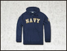 [Rapid Dominance] S43 - Full Zip Fleece Military Hoodies. NAVY (Navy) -  S43 네이비 지퍼 후드 (네이비)