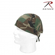 [Rothco] Camouflage Headwrap (Woodland) - 로스코 헤드랩 두건 (우드랜드)
