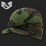 [Rapid Dominance] Camouflage Jeep Caps/Visor Beanies (Woodland) - 라피드 도미넌스 짚 비니 (우드랜드)