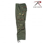 [Rothco] Ultra Force™ Vintage Camo Accent Fatigues (OD) - 로스코 8포켓 빈티지 카고 바지 (OD)
