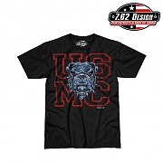 [7.62 Design] Man T Shirt USMC Dress Blue Bulldog - 7.62디자인 맨 티셔츠 USMC 드레스 블루 불독