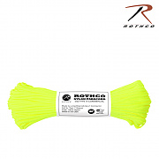[Rothco] Plus Nylon Paracord 100ft Neon (Yellow) - 로스코 파라코드 30m 낙하산줄 (옐로우)