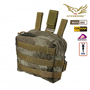 [Flyye] Molle Drop Leg Accessories Pouch (A-TACS) - 플라이예 몰리 드랍 레그 파우치 (A-TACS)