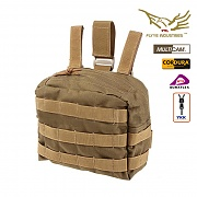 [Flyye] Molle Drop Leg Accessories Pouch (Coyote) - 플라이예 몰리 드랍 레그 파우치 (코요테)