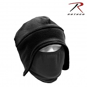 [Rothco] Convertible Fleece Cap And Polyester Face Mask (Black) - 로스코 컨버터블 플리스 캡 (마스크 포함/블랙)