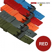 [MTM] Colored Silicon Rubber Watch Straps (Red) - 엠티엠 실리콘 루버 스트랩 (레드)