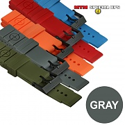 [MTM] Colored Silicon Rubber Watch Straps (Gray) - 엠티엠 실리콘 루버 스트랩 (그레이)