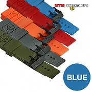 [MTM] Colored Silicon Rubber Watch Straps (Blue) - 엠티엠 실리콘 루버 스트랩 (블루)