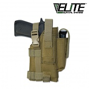 [Elite Survival Systems] Tactical Belt Holster Right Hand (Coyote) - 택티컬 벨트 홀스터 오른손 잡이용 (코요테)