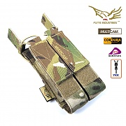 [Flyye] Molle Double Open Top Mag Pouch for MP7 (Multicam) - 플라이예 몰리 더블 오픈 탑 맥 파우치 (멀티캠)