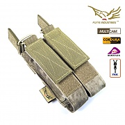 [Flyye] Molle Double Open Top Mag Pouch for MP7 (A-TACS) AU - 플라이예 몰리 더블 오픈 탑 맥 파우치 ((A-TACS) AU)