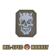 [Mil-Spec Monkey] MM Devil Skull PVC (Desert) - 밀스펙 몽키 MM 데빌 스컬 PVC 패치 (데저트)