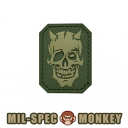 [Mil-Spec Monkey] MM Devil Skull PVC (Multicam) - 밀스펙 몽키 MM 데빌 스컬 PVC 패치 (멀티캠)
