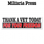 [Militaria Press] Thank A Vet Today For Your Freedom - 밀리터리아 차량용 인테리어 범퍼 스티커 (RG113)