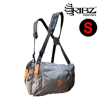 [Ribz] New Front Pack Small (Gray) - 립즈 New 프론트팩 스몰 (그레이)