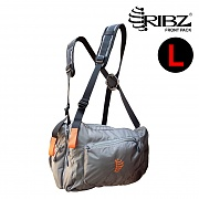[Ribz] New Front Pack Large (Gray) - 립즈 New 프론트팩 라지 (그레이)