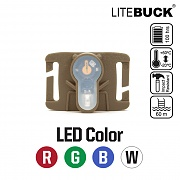 [Litebuck] LED with Molle System Module (Coyote) - 라이트벅 LED라이트 with 몰리 시스템 모듈 (코요테)
