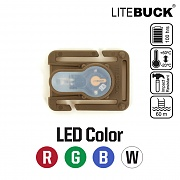 [Litebuck] LED with Molle 381 System Module (Coyote) - 라이트벅 LED라이트 with 몰리 381 시스템 모듈 (코요테)