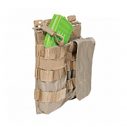 [5.11 Tactical] Double AK Bungee Cover (Sandstone) - 5.11 택티컬 더블 AK 번지 커버 (샌드스톤)