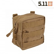 [5.11 Tactical] 6 x 6 Pouch (FDE) - 5.11 택티컬 6 x 6  파우치 (FDE)