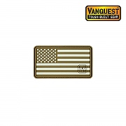 [Vanquest] Glow In The Dark Left US Flag Patch (Coyote) - 벤퀘스트 야광 왼팔용 성조기 패치 (Coyote)