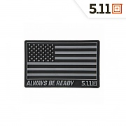 [5.11 Tactical] USA Patch (Black) - 5.11 택티컬 USA 패치 (블랙)
